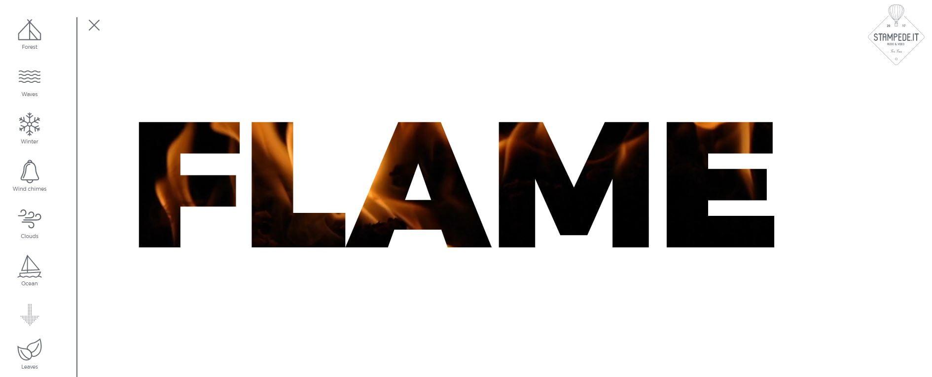 flame2 Stampede.it : une petite banque de sons et de vidéos libres de droits liés à la nature