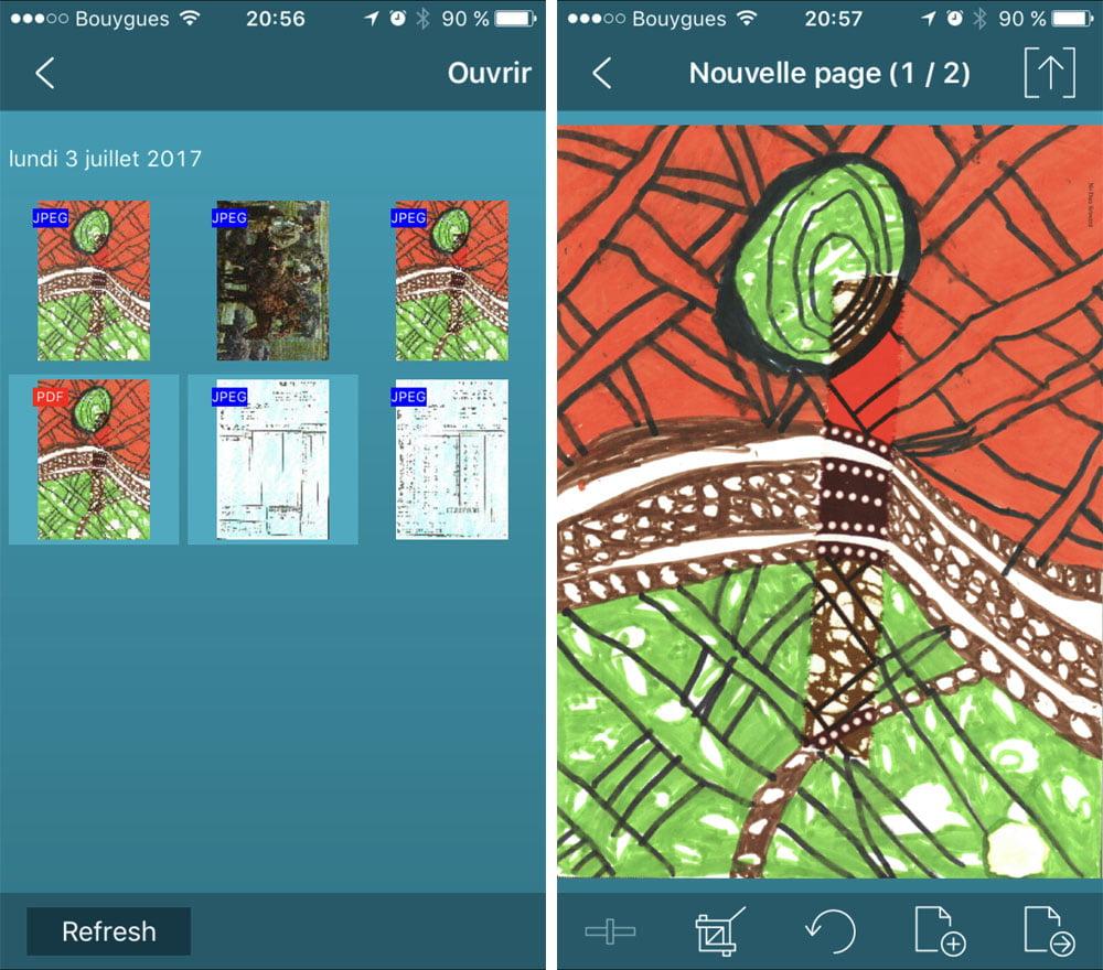 iriscan-anywhere-wifi-app-ios Test du scanner de poche IRIScan Anywhere 5 Wifi