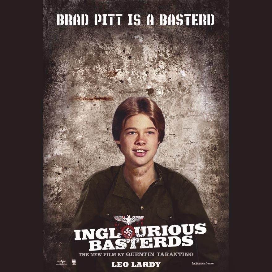 leo-lardy-inglorious-basterds Des affiches de films avec les photos d'enfance des acteurs