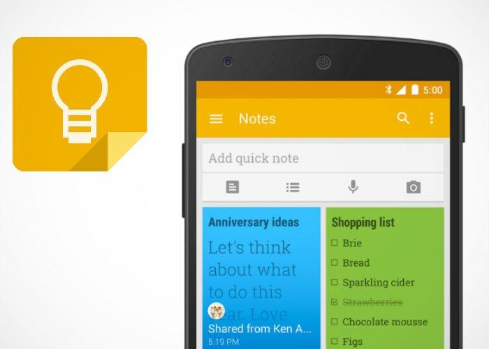google-keep 8 applications pour être plus productif à la rentrée