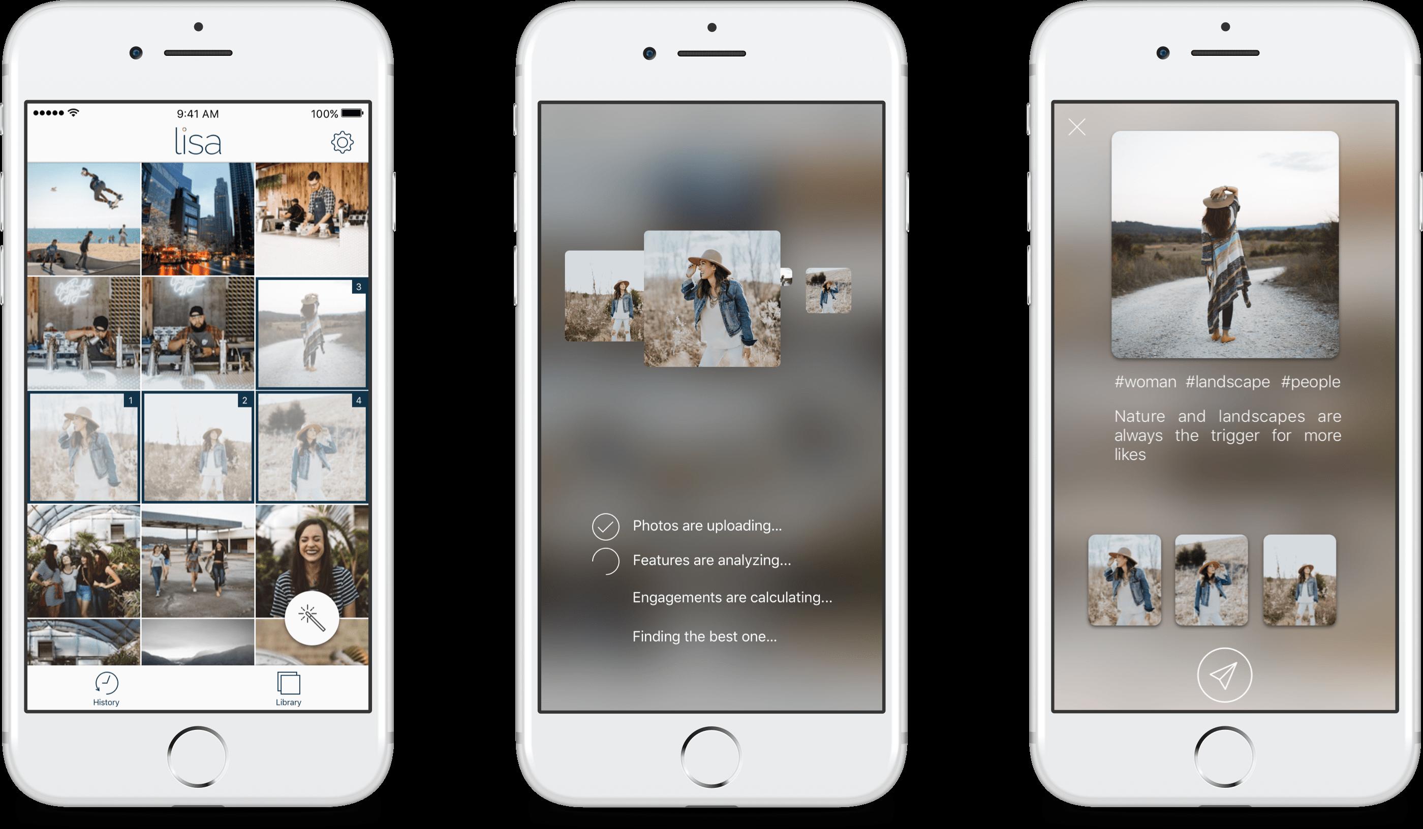 lisa-application Lisa : une application pour choisir vos meilleures photos à partager sur Instagram