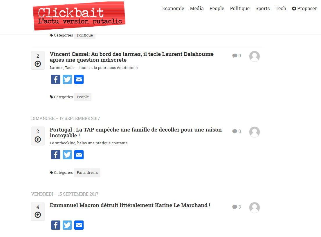 clickbait-home Clickbait référence tous les articles au titre racoleur, découvrez comment...
