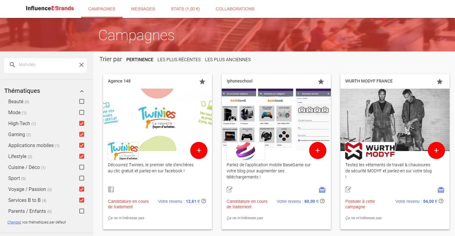 influence4brands Monétisez vos réseaux sociaux grâce à Influence4Brands
