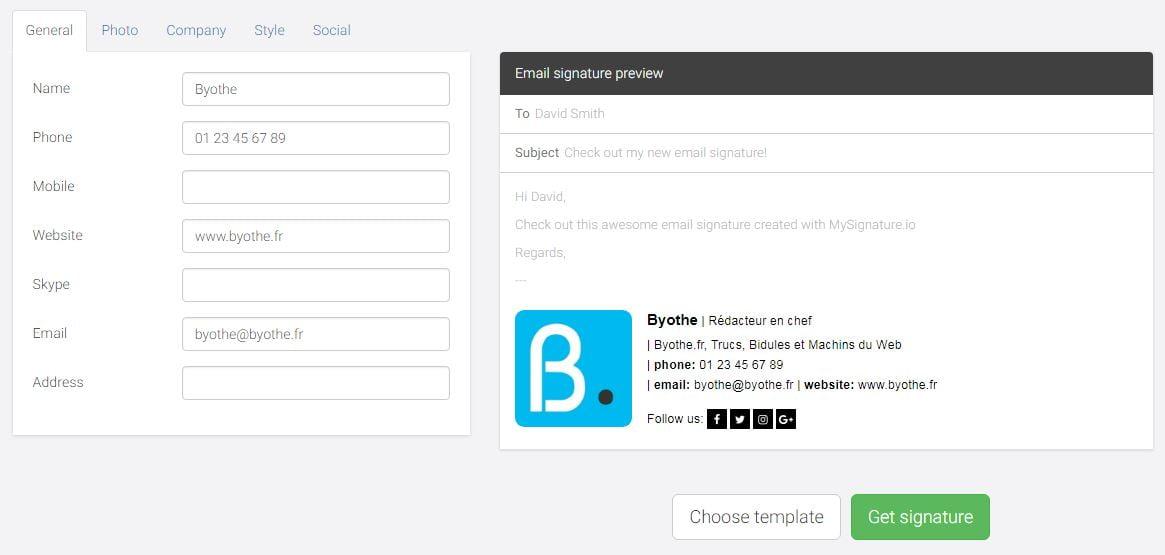 mysignature-signature Comment générer une signature de qualité pour vos emails pro ou perso ?