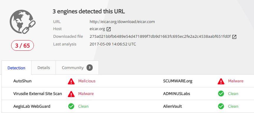 virustotal-scanresult-malware Comment s'assurer qu'un fichier est sécurisé avant de le télécharger ?