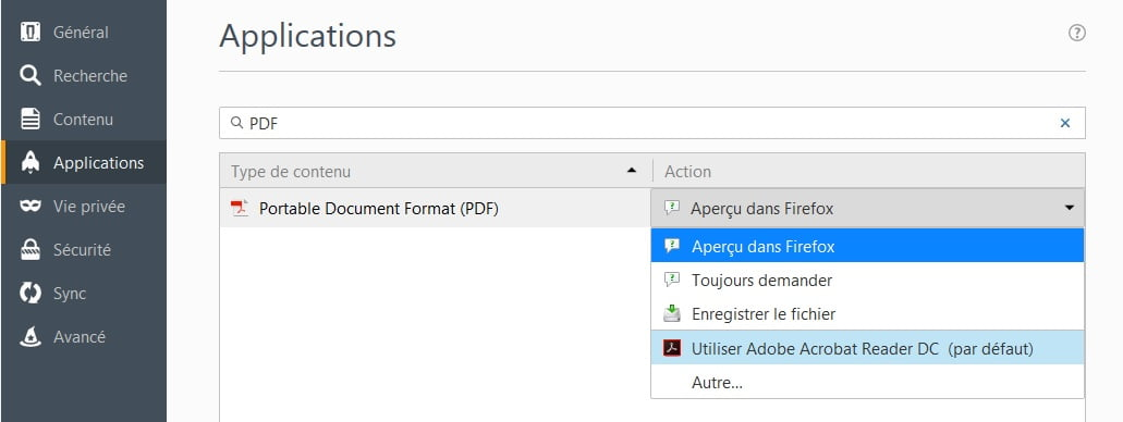 visionneuse-PDF-firefox Comment toujours ouvrir les PDF en ligne dans la visionneuse PDF de votre choix
