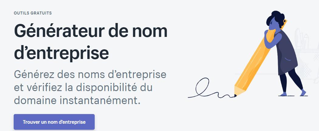 generateur-nom-entreprise Les outils gratuits de Shopify pour créer votre e-commerce