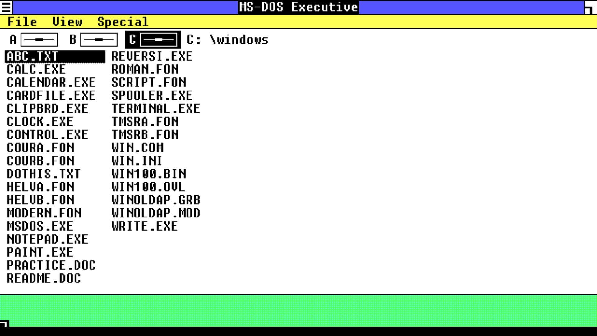 windows-101 Retrouvez ou découvrez Windows 1.01 (1985) dans votre navigateur web !