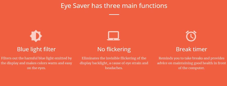 eye-saver-functions Eye Saver : un logiciel pour protéger vos yeux des effets néfastes de votre écran d'ordinateur !