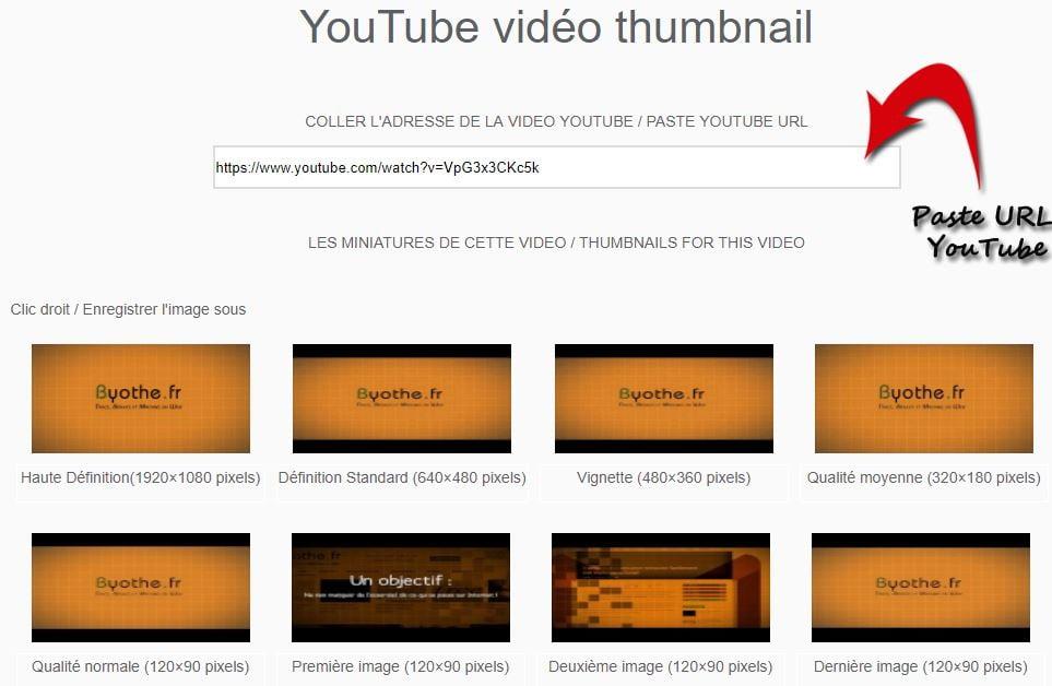 youtube-thumbnail Récupérer la miniature d'une vidéo YouTube