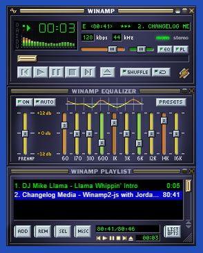 webamp-winamp Avis aux nostalgiques : un émulateur de Winamp dans votre navigateur web !