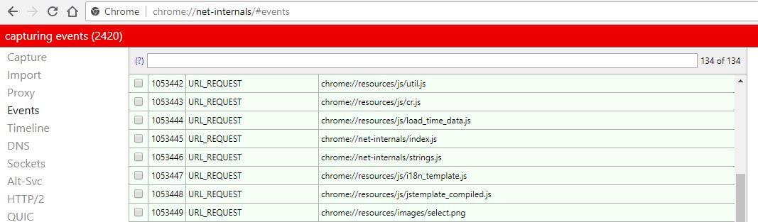 chrome-net-internals Comment accéder aux fonctions et paramètres cachés de Chrome en utilisant les pages chrome://