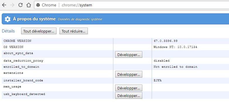 chrome-system Comment accéder aux fonctions et paramètres cachés de Chrome en utilisant les pages chrome://