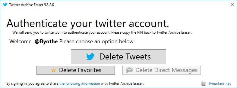 twitter-archive-eraser-2 Twitter : Effacez vos anciens tweets, likes et messages privés en un seul clic !