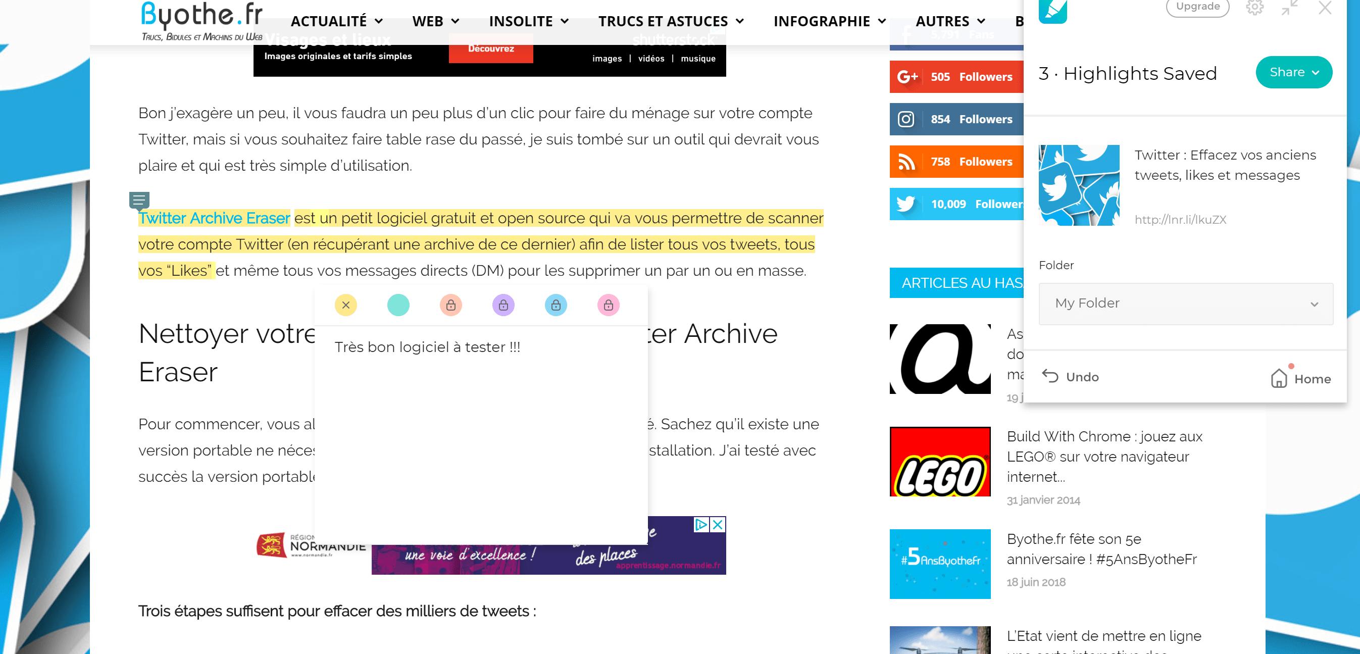 liner-extension-surligner Liner : surligner, commenter et sauvegarder des contenus en ligne !