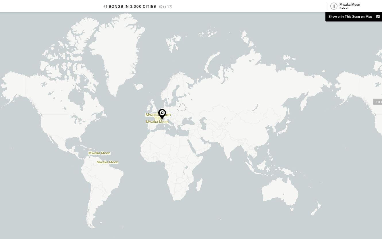 music-map-mwaka-moon Music Map, découvrez le tube du moment dans chaque pays du monde !