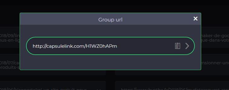 capsulelink-group-url CapsuleLink, sauvegarder et partager facilement une liste de liens internet