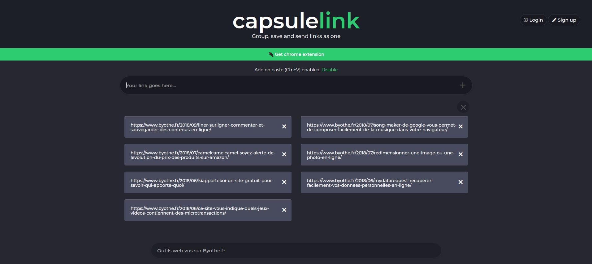capsulelink Le top 20 des outils et sites web 2018 sur Byothe.fr !