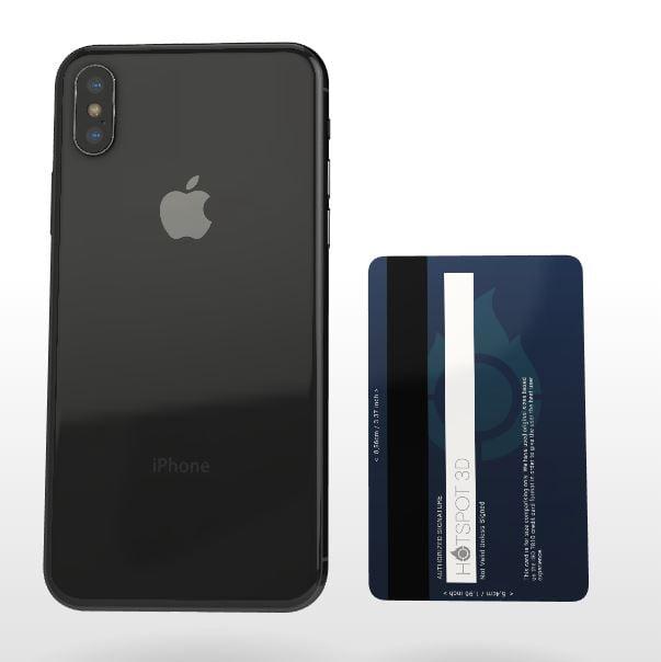 hotspot3d-iphone-xs-carte-bleue Un site web en 3D pour vous aider à choisir votre modèle de smartphone !