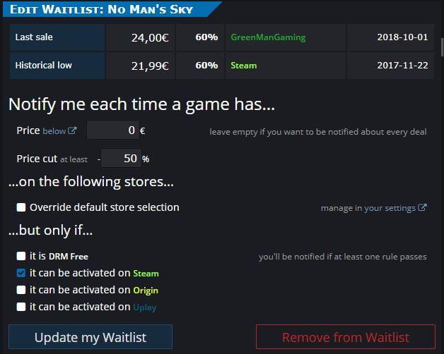 isthereanydeal-10 Steam : comment recevoir des alertes plus pertinentes sur les baisses de prix des jeux