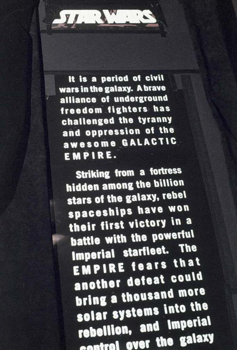 star-wars-generique-3 Comment le générique d'ouverture de Star Wars a-t-il été filmé ?