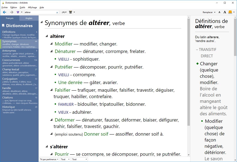 A10_FR_Synonymes Antidote, l'excellent logiciel de correction passe à la version 10 !