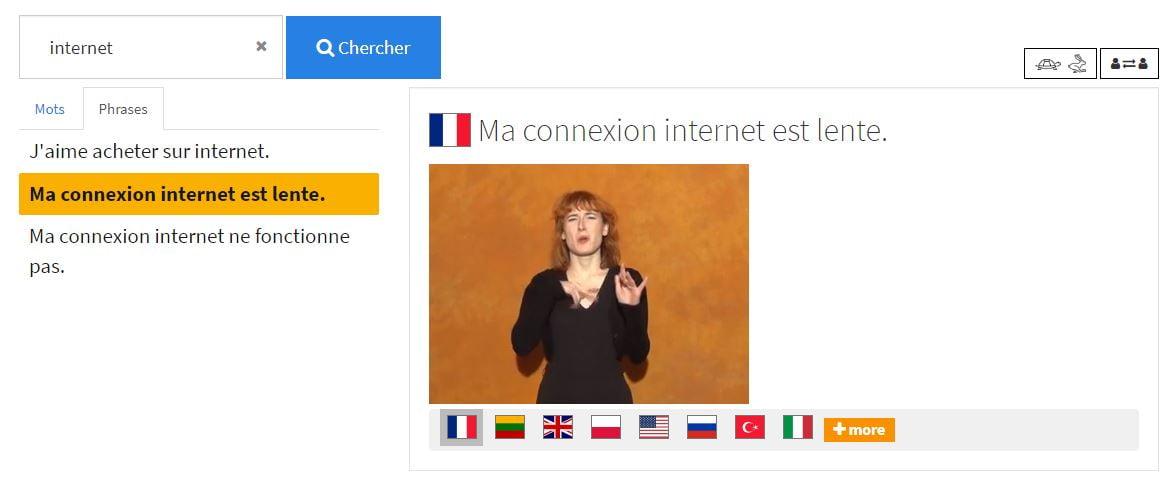 SpreadTheSign-Internet-phrase SpreadTheSign, un dictionnaire international de la langue des signes