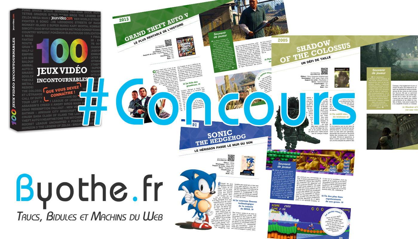"""concours-100-jeux-video-incontournables #Concours : 1 livre """"100 jeux vidéo incontournables"""" à gagner !"""
