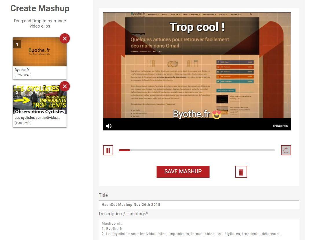 hashcut-extrait-youtube-mashup Hashcut : partagez des extraits de vidéos YouTube !