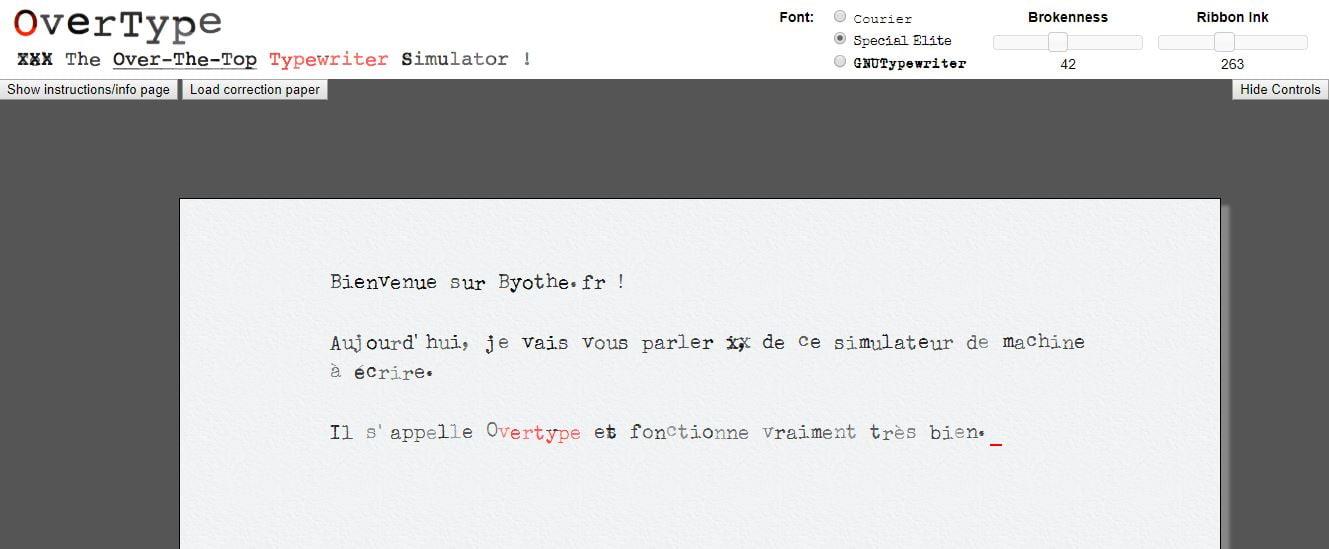 overtype-simulation-machine-a-ecrire OverType : un simulateur de machine à écrire dans votre navigateur