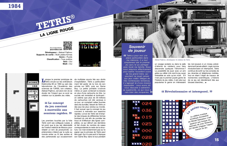 """tetris #Concours : 1 livre """"100 jeux vidéo incontournables"""" à gagner !"""