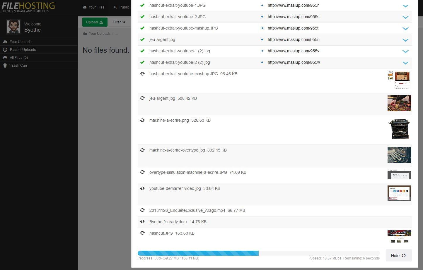 upload-fichier Masiup, stockez en illimité et gratuitement des fichiers en ligne !