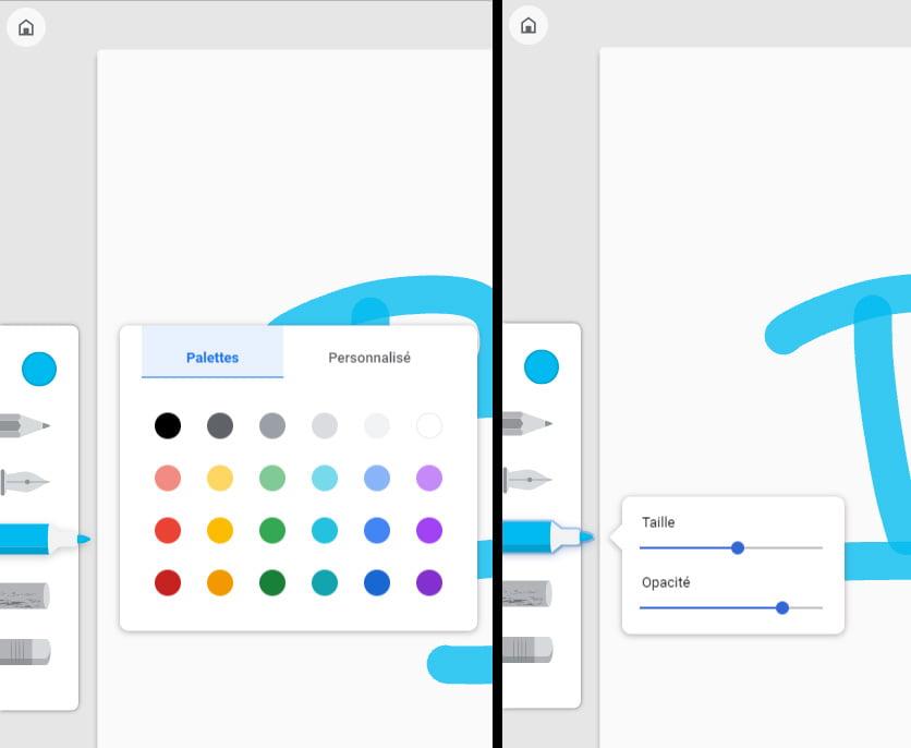 google-canvas-outils Canvas, l'application de dessin en ligne signée Google