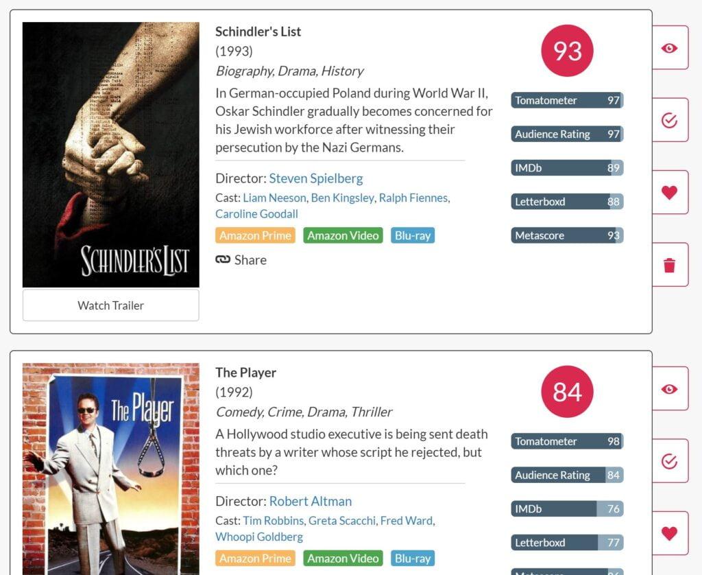 flickmetrix-liste-1024x838 Trouver les meilleurs films sur Netflix et Amazon Prime Video