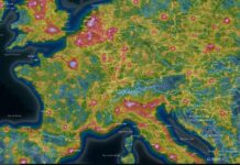 light pollution map pollution lumineuse