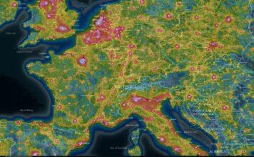 light pollution map pollution lumineuse