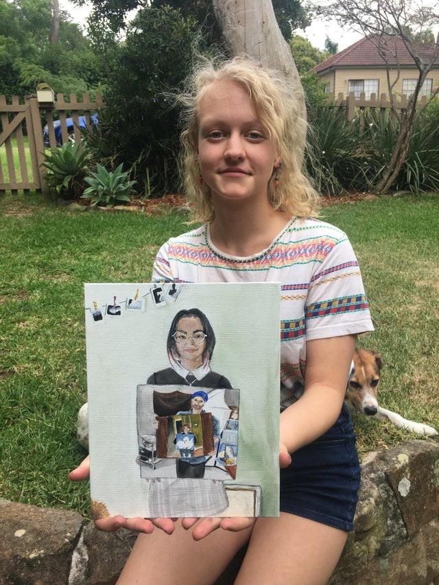 reddit-peinture-photo-maman-3 La magie des réseaux : J'ai peint la personne qui a peint la personne qui a peint l'oiseau...