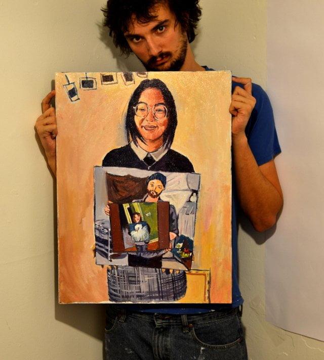 reddit-peinture-photo-maman-3bis La magie des réseaux : J'ai peint la personne qui a peint la personne qui a peint l'oiseau...