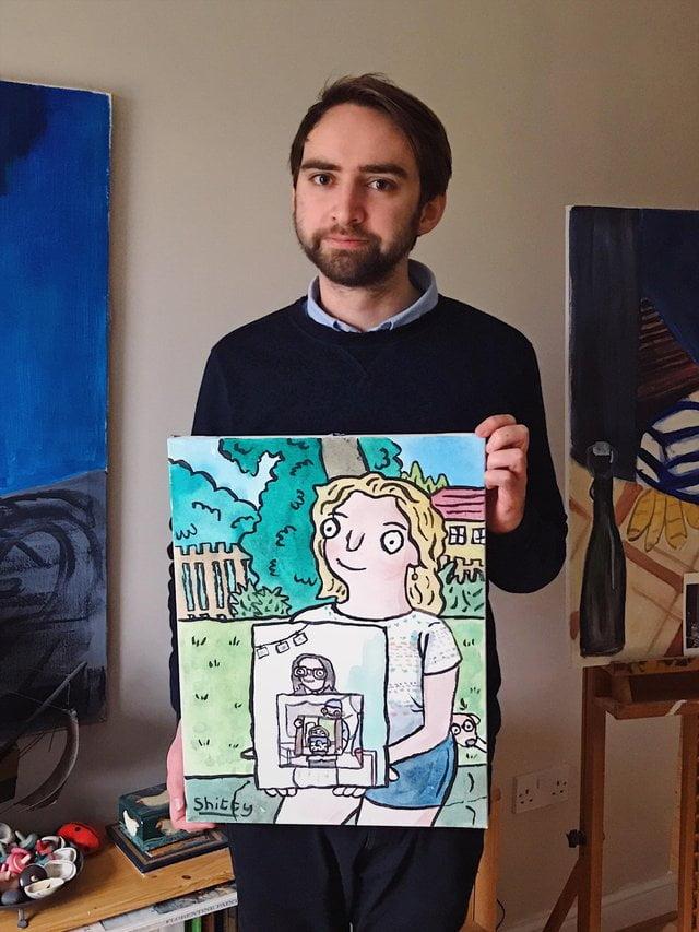reddit-peinture-photo-maman-4 La magie des réseaux : J'ai peint la personne qui a peint la personne qui a peint l'oiseau...