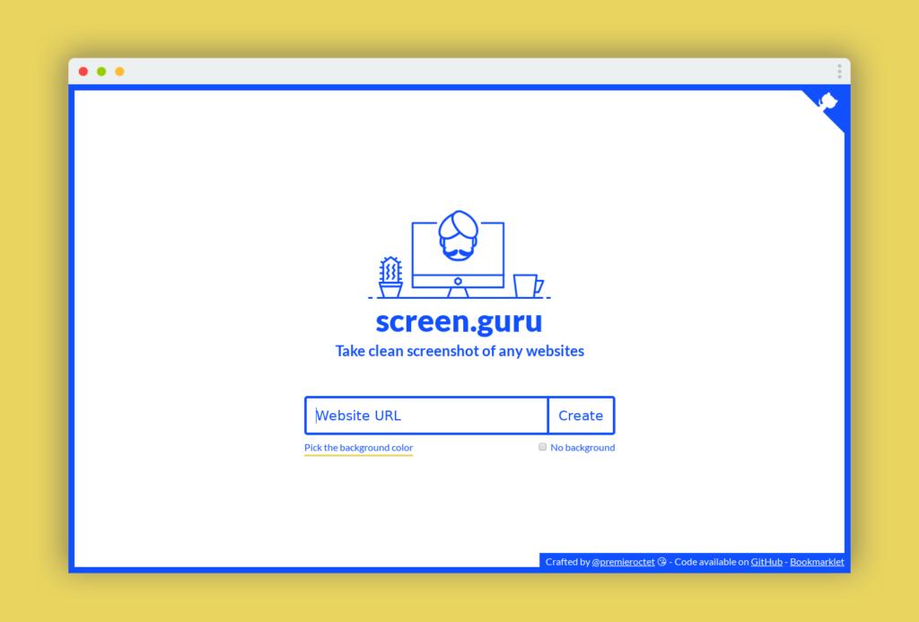 screen-guru-capture-ecran-1024x693 Screen Guru pour créer d'élégantes captures d'écran de sites web