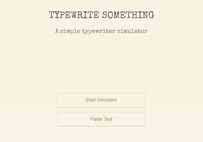 typewrite-something-accueil Typewrite Something transforme votre navigateur web en machine à écrire