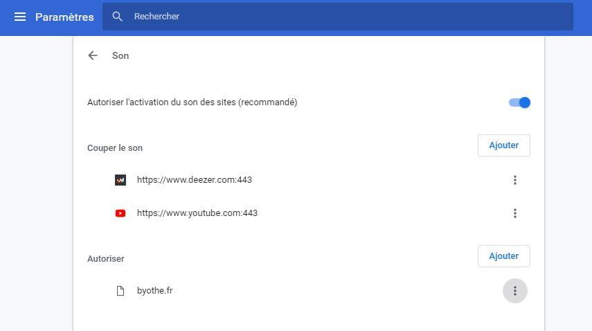 chrome-parametres-son Astuce : désactiver de manière permanente le son d'un site web sur Chrome