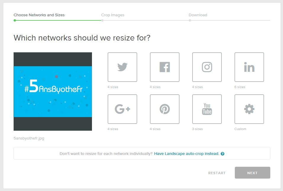 landscape-image-reseaux-sociaux-choix Landscape : un outil en ligne pour redimensionner vos photos pour les réseaux sociaux