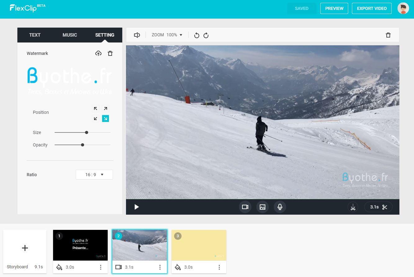 flexclip-montage-video-en-ligne-2 FlexClip permet de réaliser gratuitement des montages vidéo en ligne