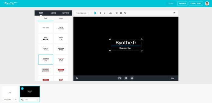 flexclip montage video en ligne