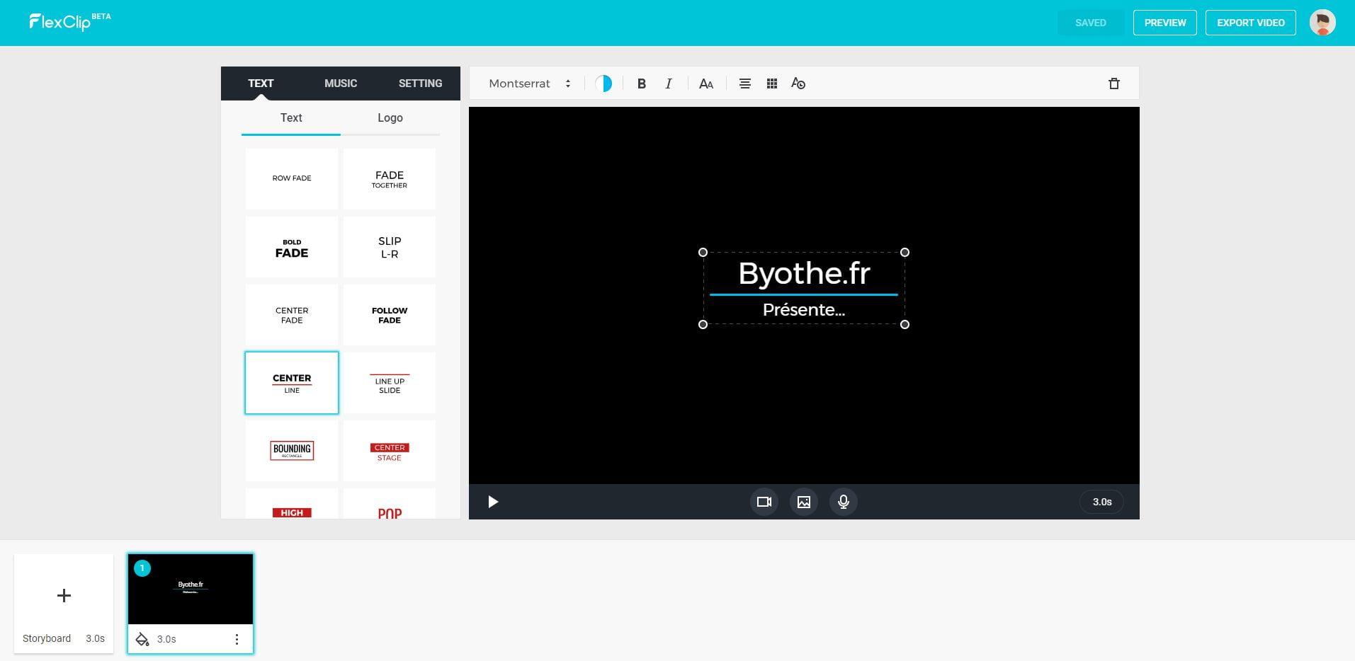 flexclip-montage-video-en-ligne FlexClip permet de réaliser gratuitement des montages vidéo en ligne
