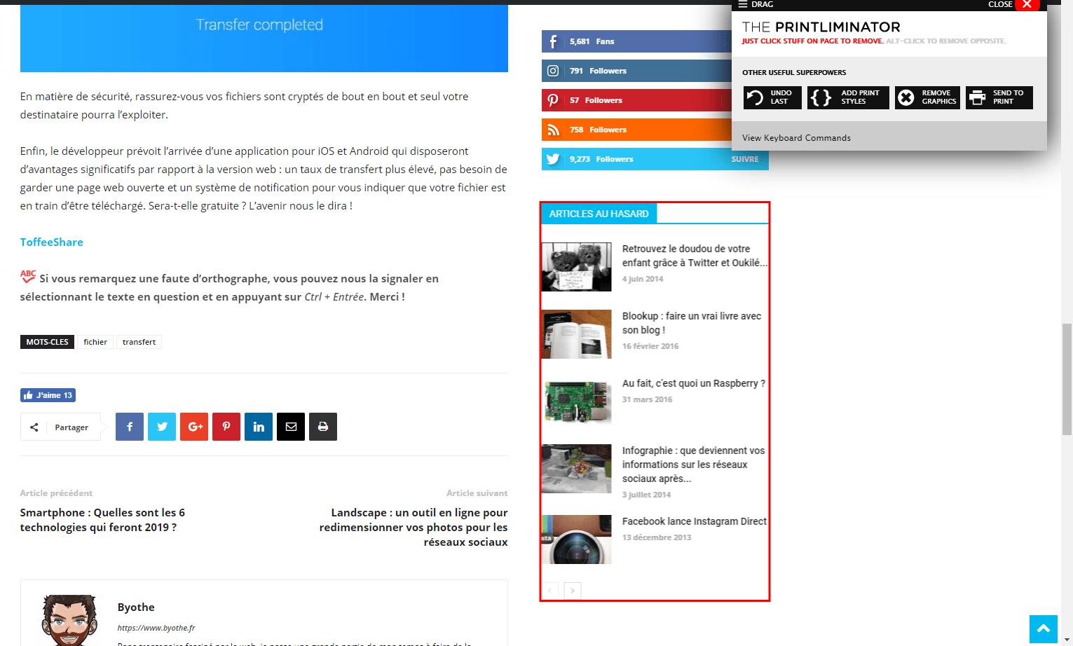 the-printliminator-nettoyage The Printliminator, un outil pour imprimer proprement une page web