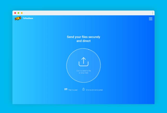 toffeeshare partage fichier sans limite taille