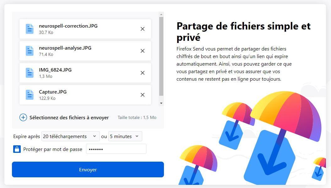 firefox-send-partage-securise Firefox Send : le partage sécurisé de fichiers volumineux qui s'autodétruisent après téléchargement