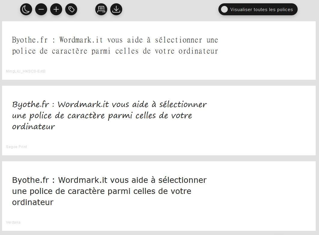 wordmarkit-comparer-police-caractere-font-selection Wordmark.it vous aide à sélectionner une police de caractère parmi celles installées sur votre ordinateur